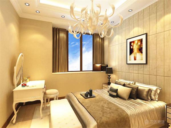 在设计上追求空间变化的连续性和形体变化的层次感,室内多采用带有图案的壁纸、地毯、窗帘(简约欧式风格窗帘的代表花型是大马士革)、床罩、帐幔及古典装饰画,