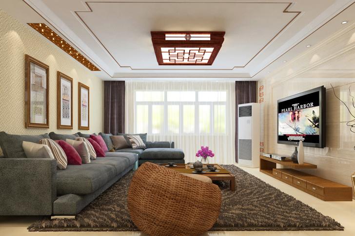 日升装饰 西安日升装 客厅图片来自西安日升装饰在海泊香庭新中式的分享