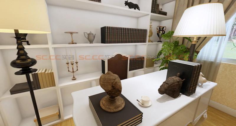 欧式 实创陈浩 书房图片来自南京实创装饰陈浩在欧式典雅 沁人心脾的分享