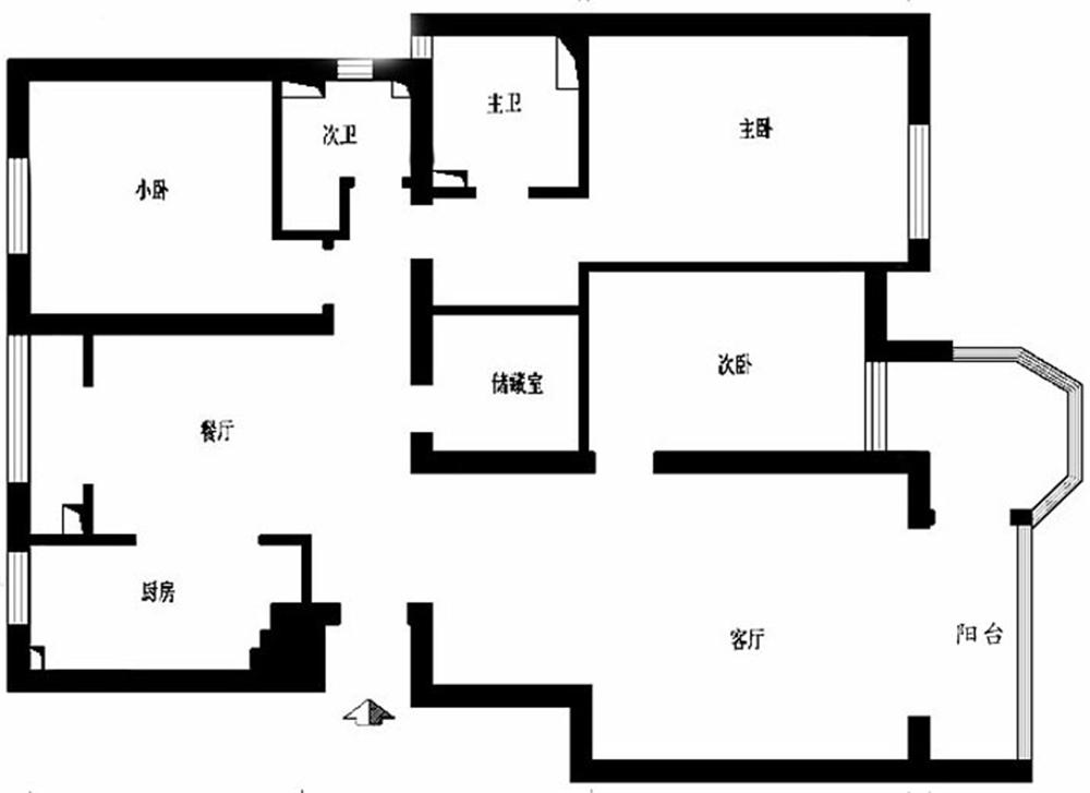 三居 白领 收纳 旧房改造 80后 小资 户型图图片来自实创装饰完美家装在星河城二区130平简欧风格案例的分享