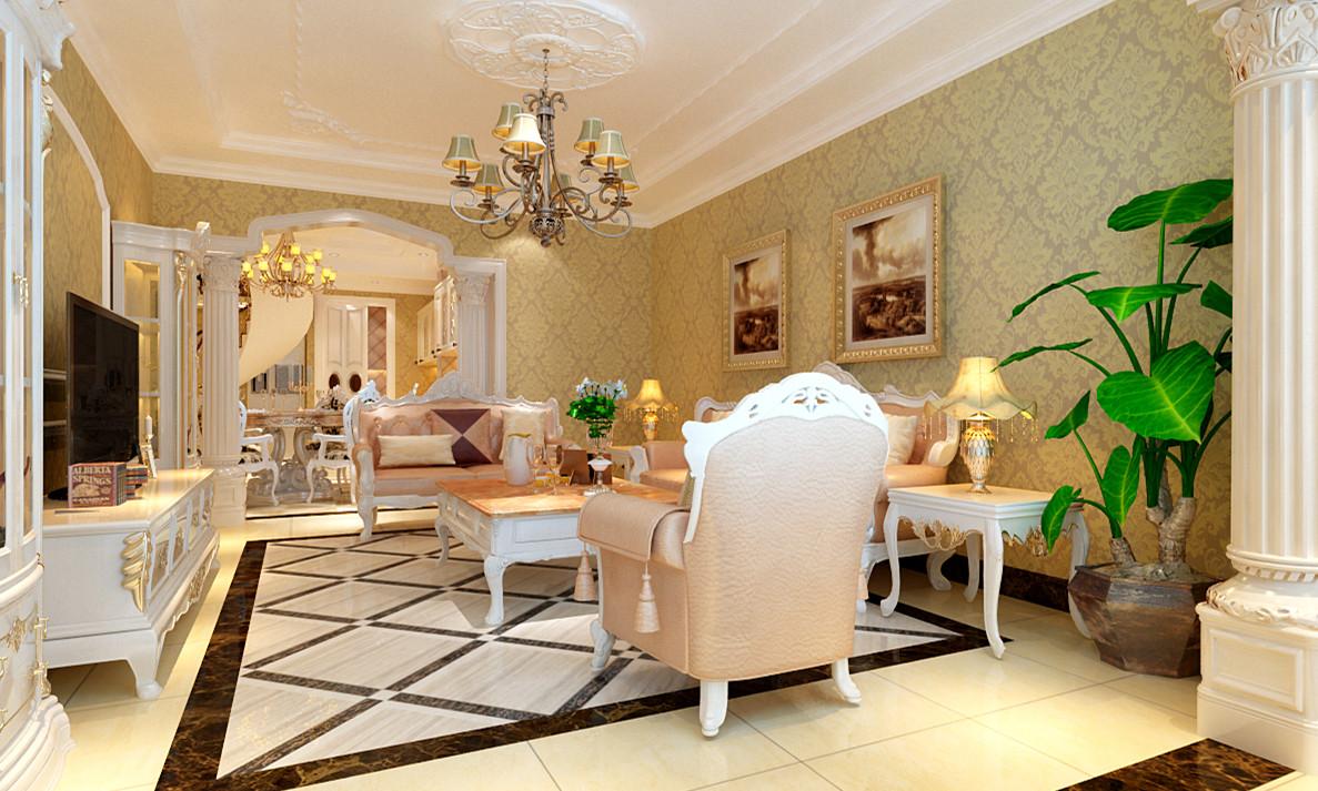 欧式 别墅 白领 收纳 旧房改造 小资 80后 客厅图片来自实创装饰完美家装在顺鑫花语210平欧式风格案例赏析的分享