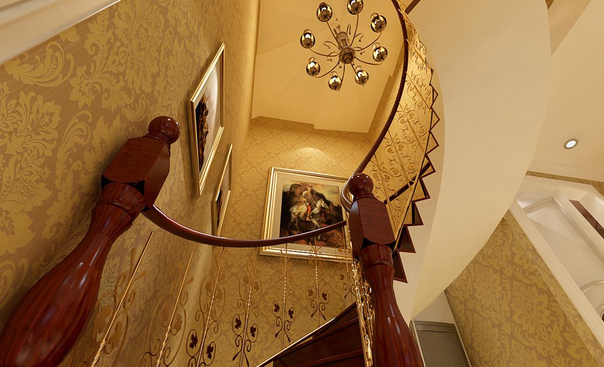 欧式 别墅 白领 收纳 旧房改造 小资 80后 楼梯图片来自实创装饰完美家装在顺鑫花语210平欧式风格案例赏析的分享