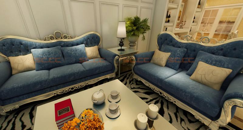 欧式 实创陈浩 客厅图片来自南京实创装饰陈浩在欧式典雅 沁人心脾的分享