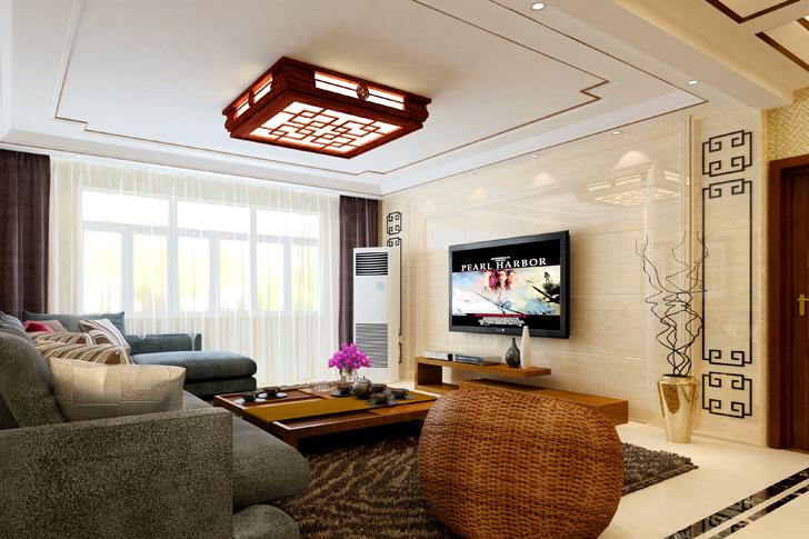 日升装饰 西安日升装 新中式效果 装修公司 客厅图片来自西安日升装饰在海泊香庭新中式的分享