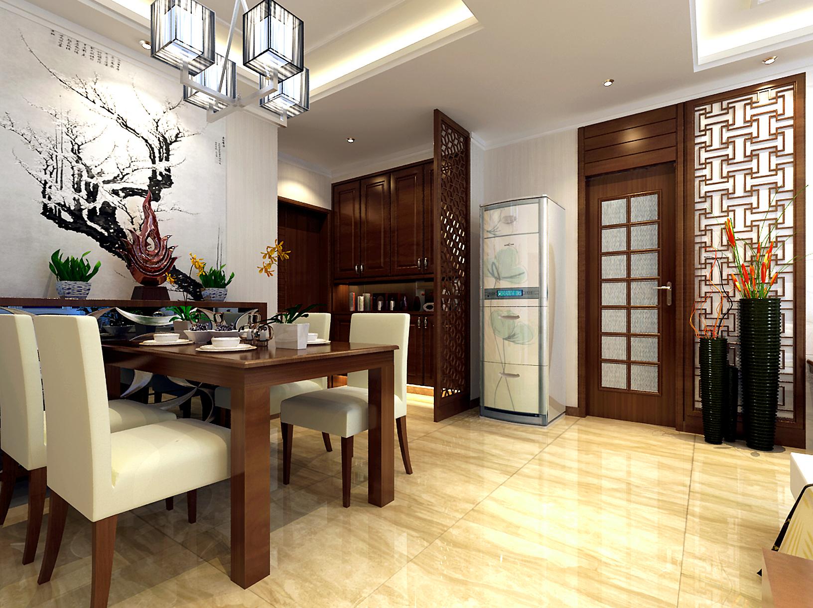 中式 三居 收纳 80后 餐厅图片来自兰州业之峰大户型设计中心在中广宜景湾尚城110经典案例的分享