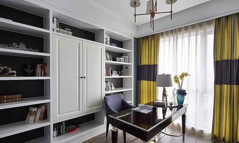 书房图片来自家装大管家在雍容清雅 140平古典美式时尚4居的分享