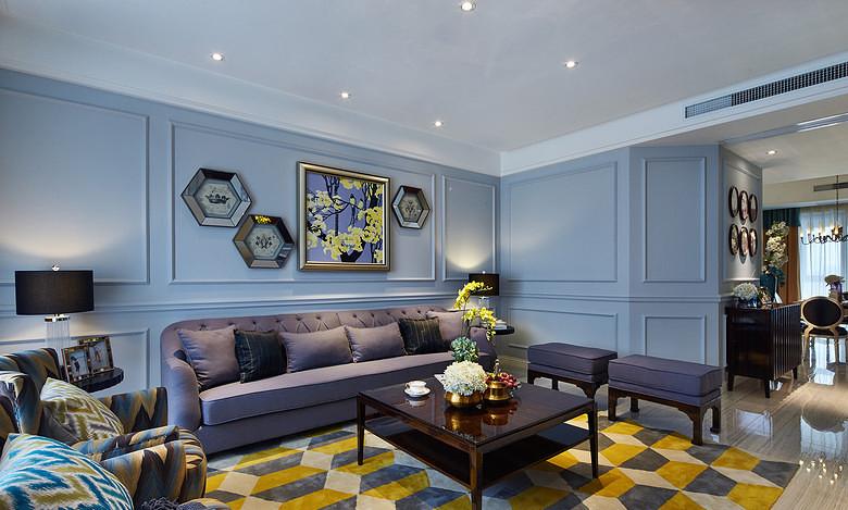客厅图片来自家装大管家在雍容清雅 140平古典美式时尚4居的分享