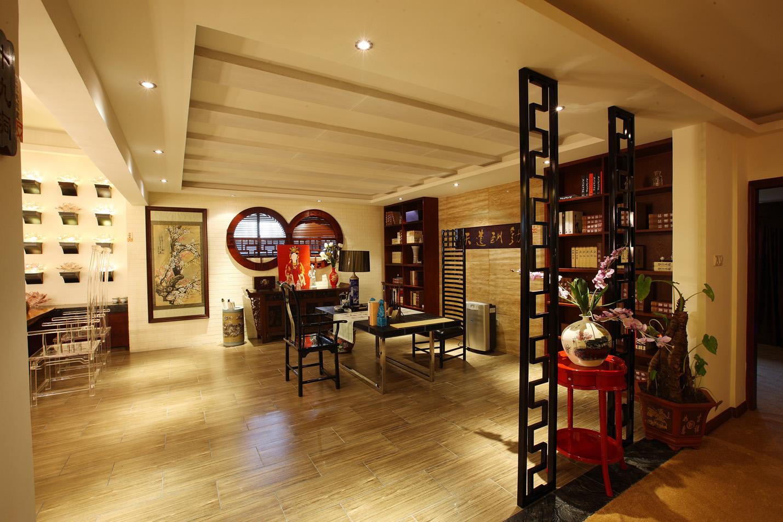 中式 沉稳 别墅 书房图片来自孟庆莹在中式风格之旭辉御锦的分享