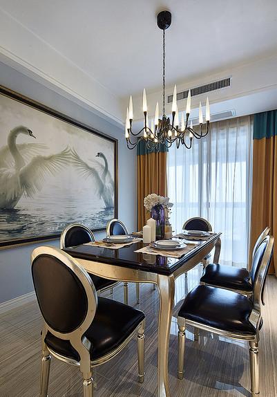 餐厅图片来自家装大管家在雍容清雅 140平古典美式时尚4居的分享
