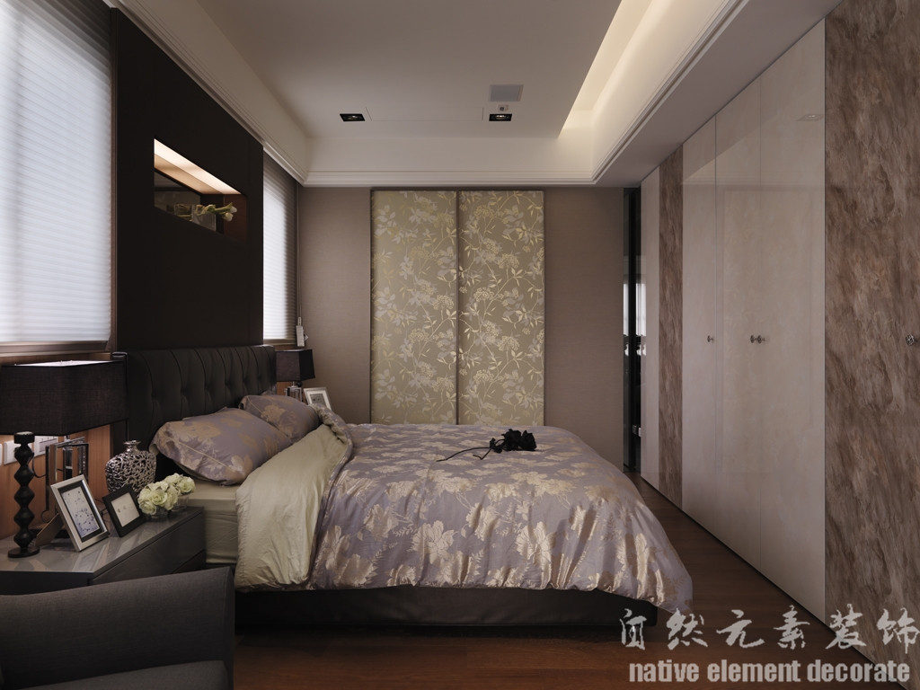 汇景豪苑 简约风 舒适 卧室图片来自自然元素装饰在汇景豪苑简约风装修案例的分享