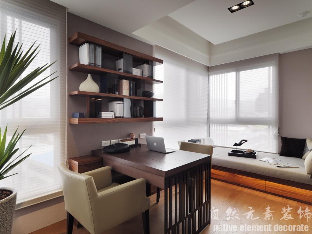 汇景豪苑 简约风 舒适 书房图片来自自然元素装饰在汇景豪苑简约风装修案例的分享