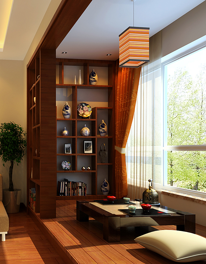 简约 中式 复式 其他图片来自实创装饰上海公司在新中式风格高雅肃静装修设计的分享