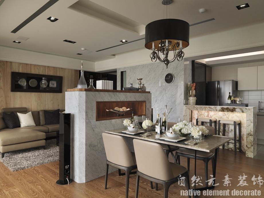 汇景豪苑 简约风 舒适 餐厅图片来自自然元素装饰在汇景豪苑简约风装修案例的分享