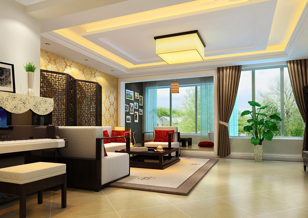 简约 中式 复式 客厅图片来自实创装饰上海公司在新中式风格高雅肃静装修设计的分享