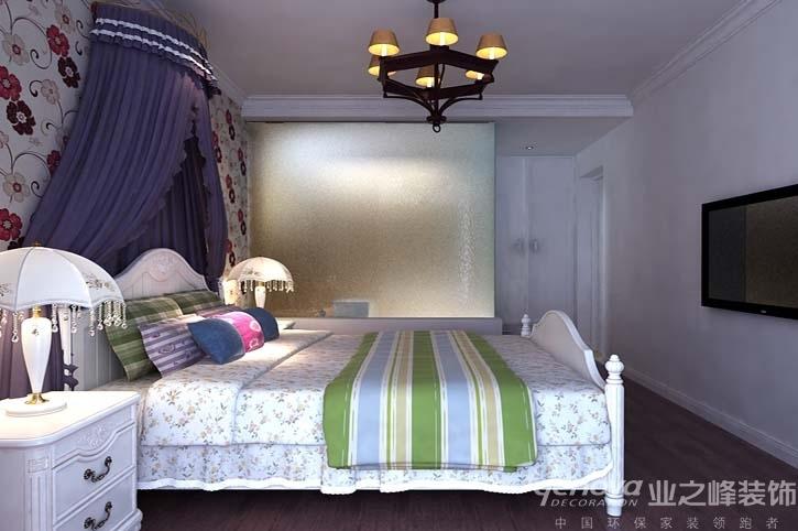 兰州业之峰 地中海风格 三居室装修 效果图 设计案例 卧室图片来自兰州业之峰装饰公司在海的颜色的分享