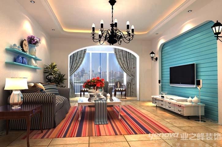 兰州业之峰 地中海风格 三居室装修 效果图 设计案例 客厅图片来自兰州业之峰装饰公司在海的颜色的分享