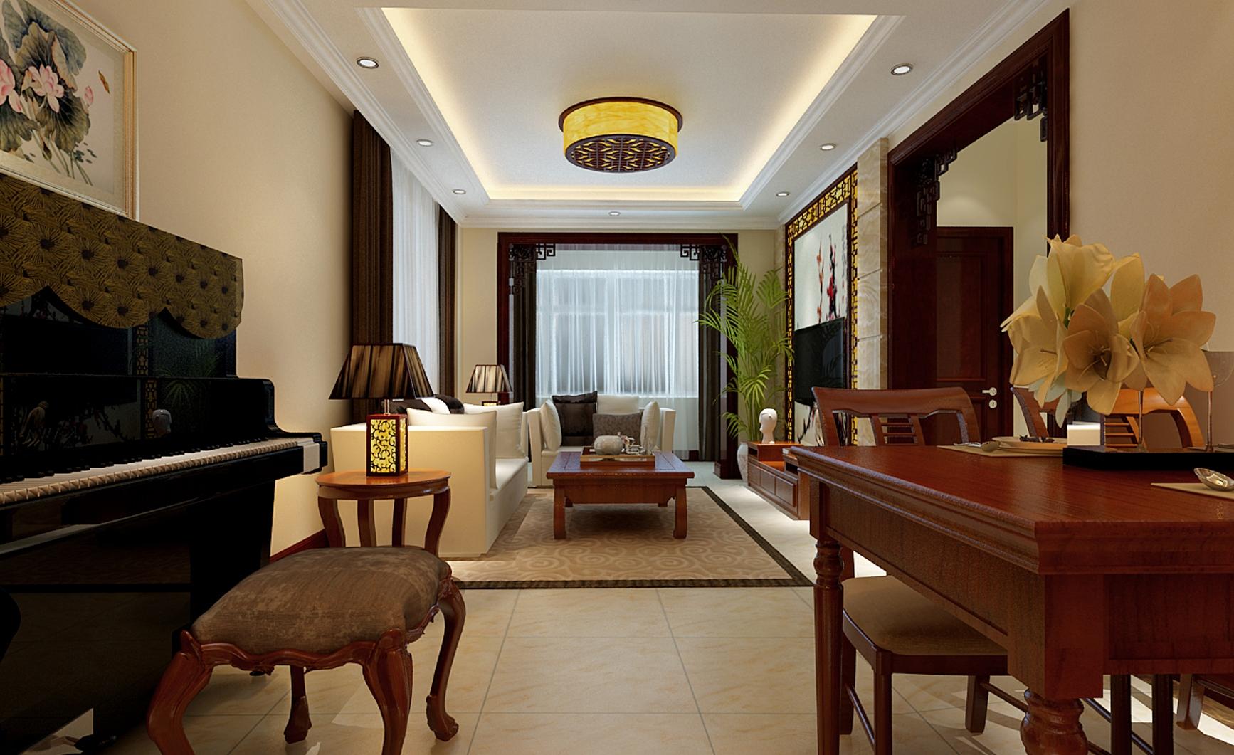 简约 中式 两居 客厅图片来自实创装饰上海公司在徐汇区81.6平中式风格装修效果图的分享