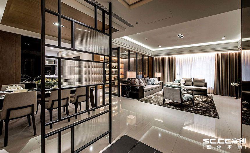 三居 简约 现代 客厅 书房 卧室 衣帽间 大平层 别墅 客厅图片来自实创装饰晶晶在安亭212平大平层后现代气质美宅的分享