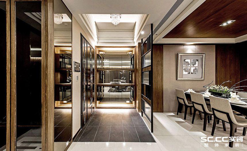 三居 简约 现代 客厅 书房 卧室 衣帽间 大平层 别墅 其他图片来自实创装饰晶晶在安亭212平大平层后现代气质美宅的分享