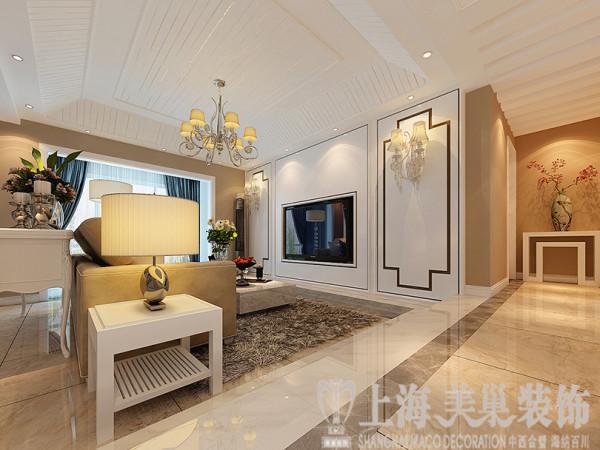 郑州鑫苑名家230平五室两厅现代简约装修风格效果图——客厅样板间