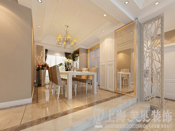 鑫苑名家230平五室两厅现代简约装修风格效果图——餐厅样板间