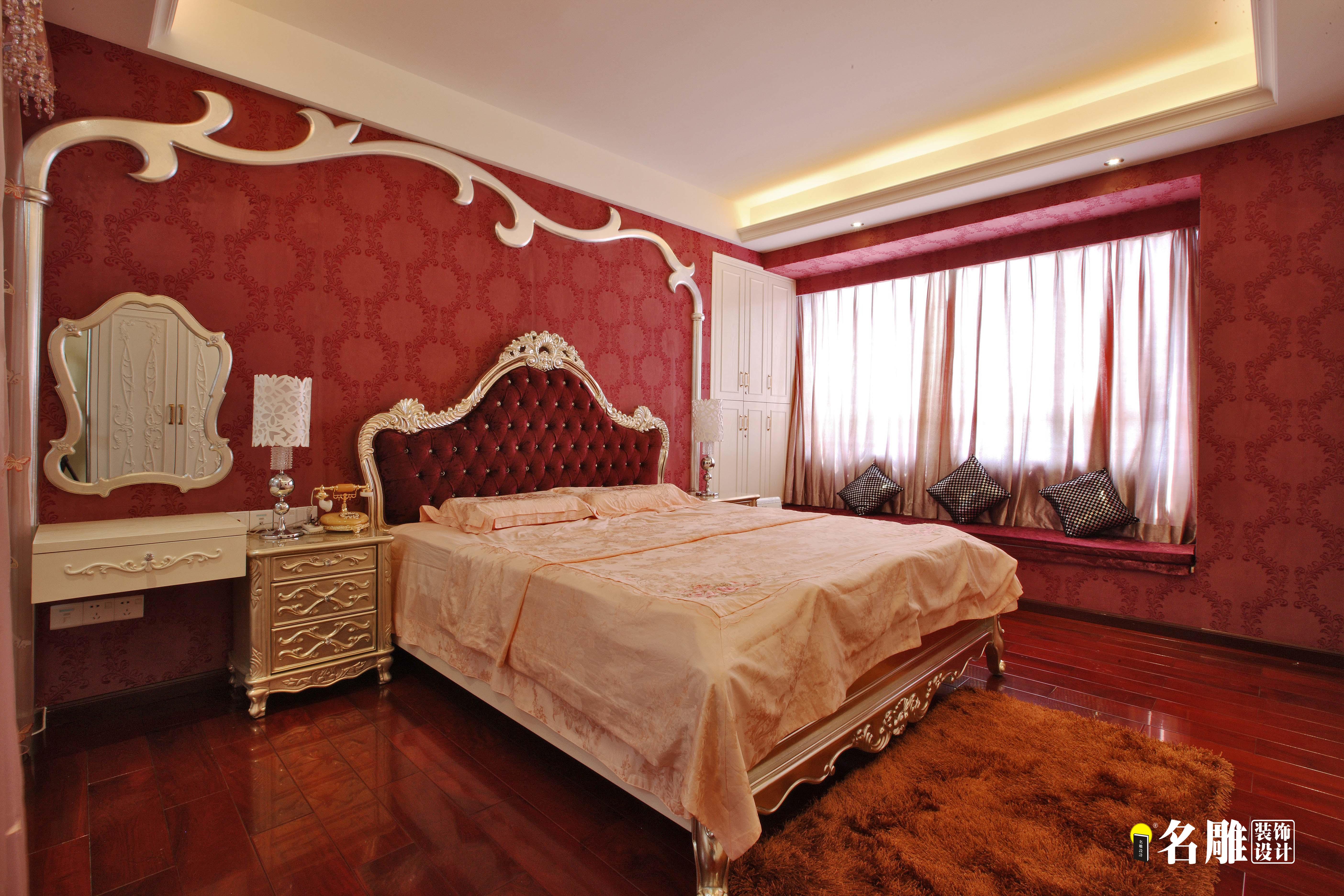 新古典风格 新古典 四居室 名雕装饰 珑御府 卧室图片来自名雕装饰设计在珑御府—新古典风格—四居室的分享