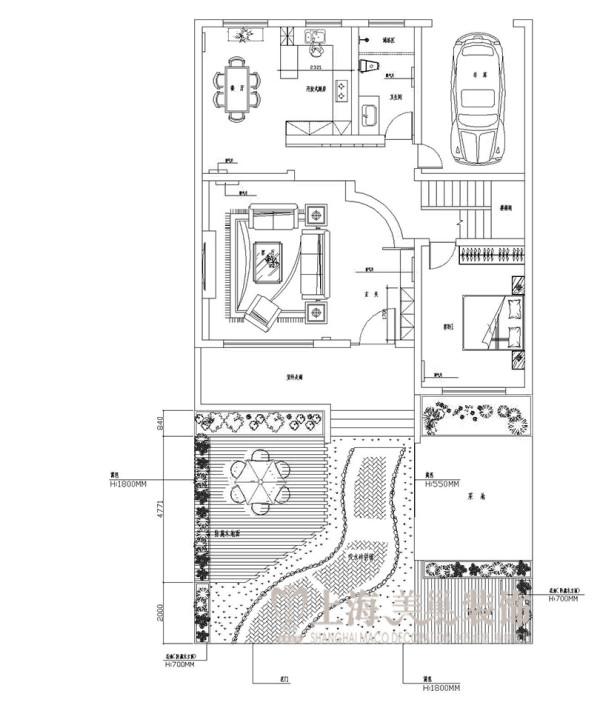 联盟新城330平方五室三厅三卫——平面户型图2
