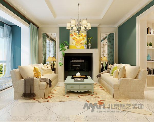 一楼: 一楼的设计整体采用淡雅清新的绿色与白色搭配,色调清爽,绽放新鲜的自然情怀。门厅的鞋帽柜与客卫门的对称式设计结合镜面,让门厅功能与美观协调统一。