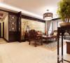 绿城百合四室两厅新中式风格装修