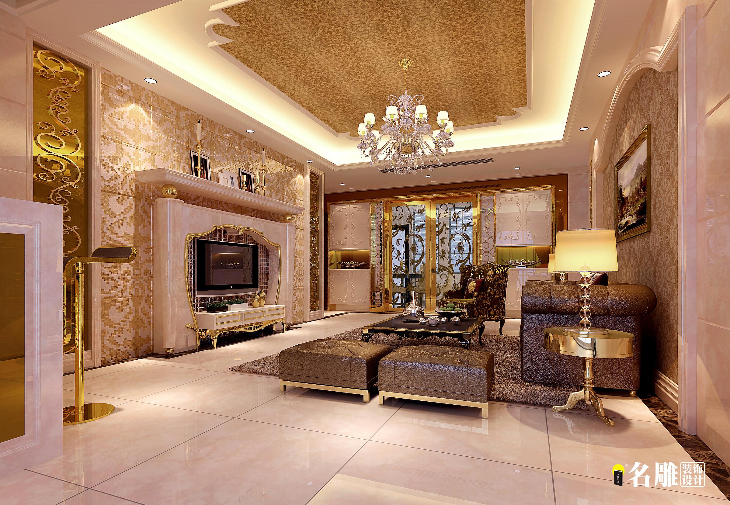 新古典风格 新古典 四居室 名雕装饰 珑御府 客厅图片来自名雕装饰设计在珑御府—新古典风格—四居室的分享