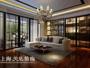 怡丰新都汇三室新中式装修效果图