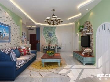 三居室打造现代温馨地中海风格