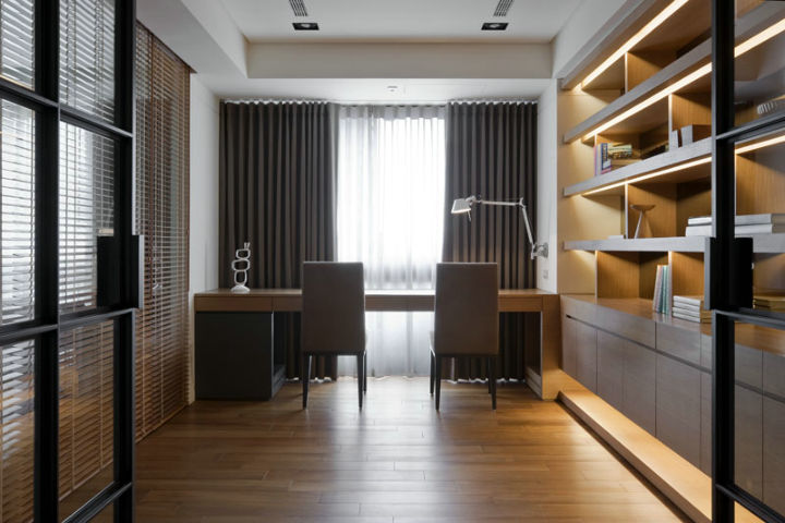 金沙云霆 150平米 现代简约 四室 书房图片来自cdxblzs在金沙云霆 150平米 现代简约 四室的分享
