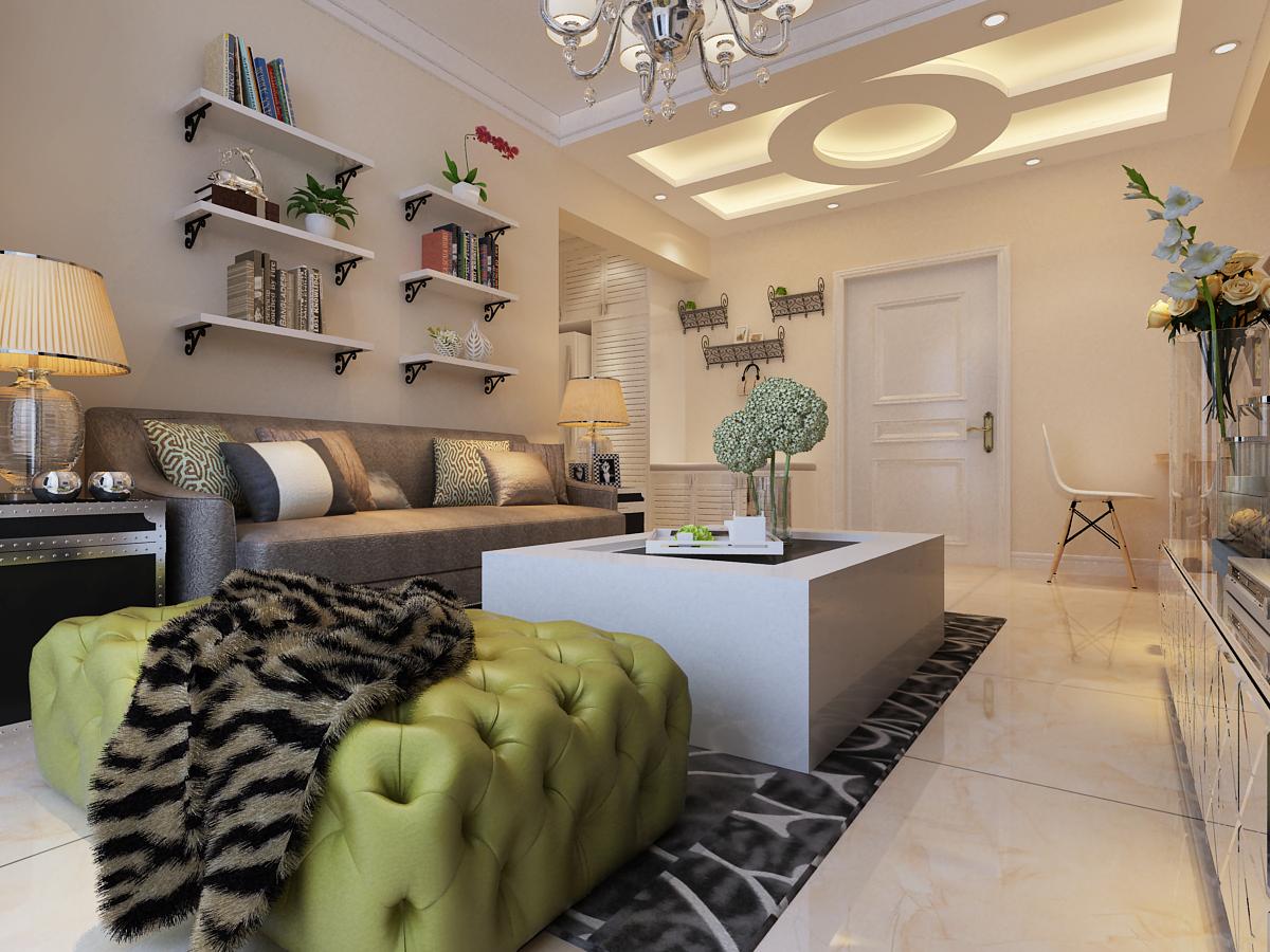 简约 二居 小资 绿地塞纳 客厅图片来自昆明九创装饰温舒德在绿地塞纳公馆75平均创意设计的分享