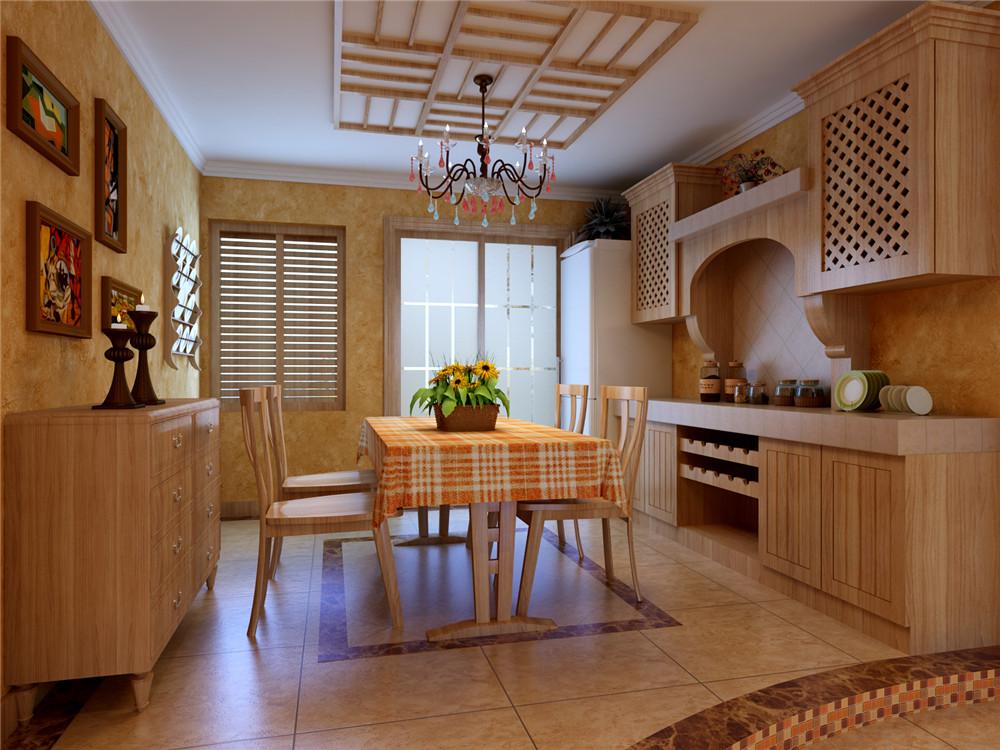 地中海风格 一居 旧房改造 餐厅图片来自实创装饰上海公司在64平地中海风格装修效果图的分享
