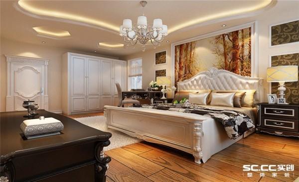 卧室设计: 设计理念:整个卧室造型细致而且有品位,营造出一种舒适、温馨的氛围,使人回家时得到一种身体和精神上的放松,满足业主所有的心里享受。大大的落地窗,阳光洒满整个卧室,温暖阳光。