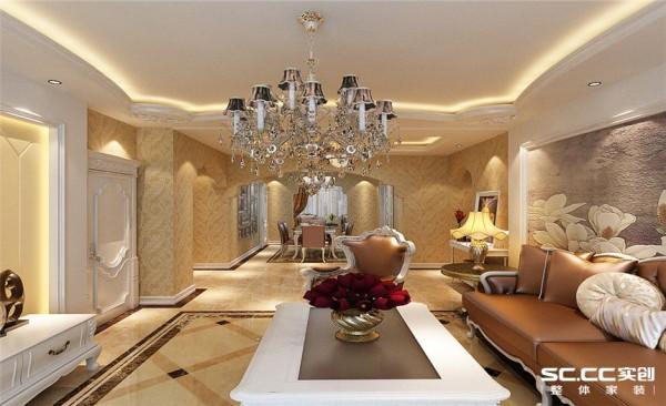 客厅设计: 客厅设计华丽而不花哨,简单而注重细节,高档而不冷清,层层叠加的吊顶赋予了整个空间无限的层次感。