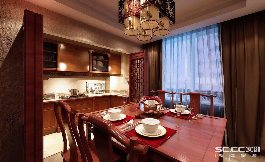 新中式 四居室 旧房改造 装修设计 装修公司 餐厅图片来自孙进进在四居室143平山水入室的新中式的分享
