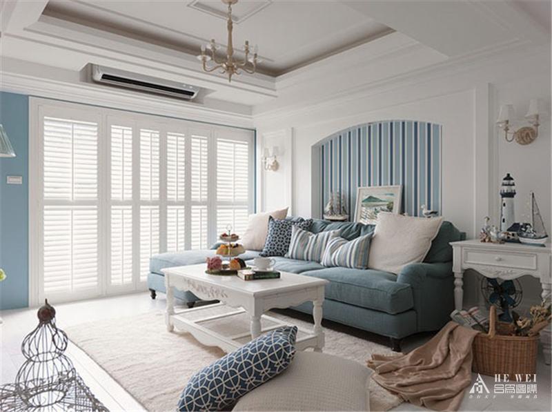 地中海 海边轻松 少有浮华 悠闲自得 客厅图片来自北京精诚兴业装饰公司在棕榈泉国际公寓的分享