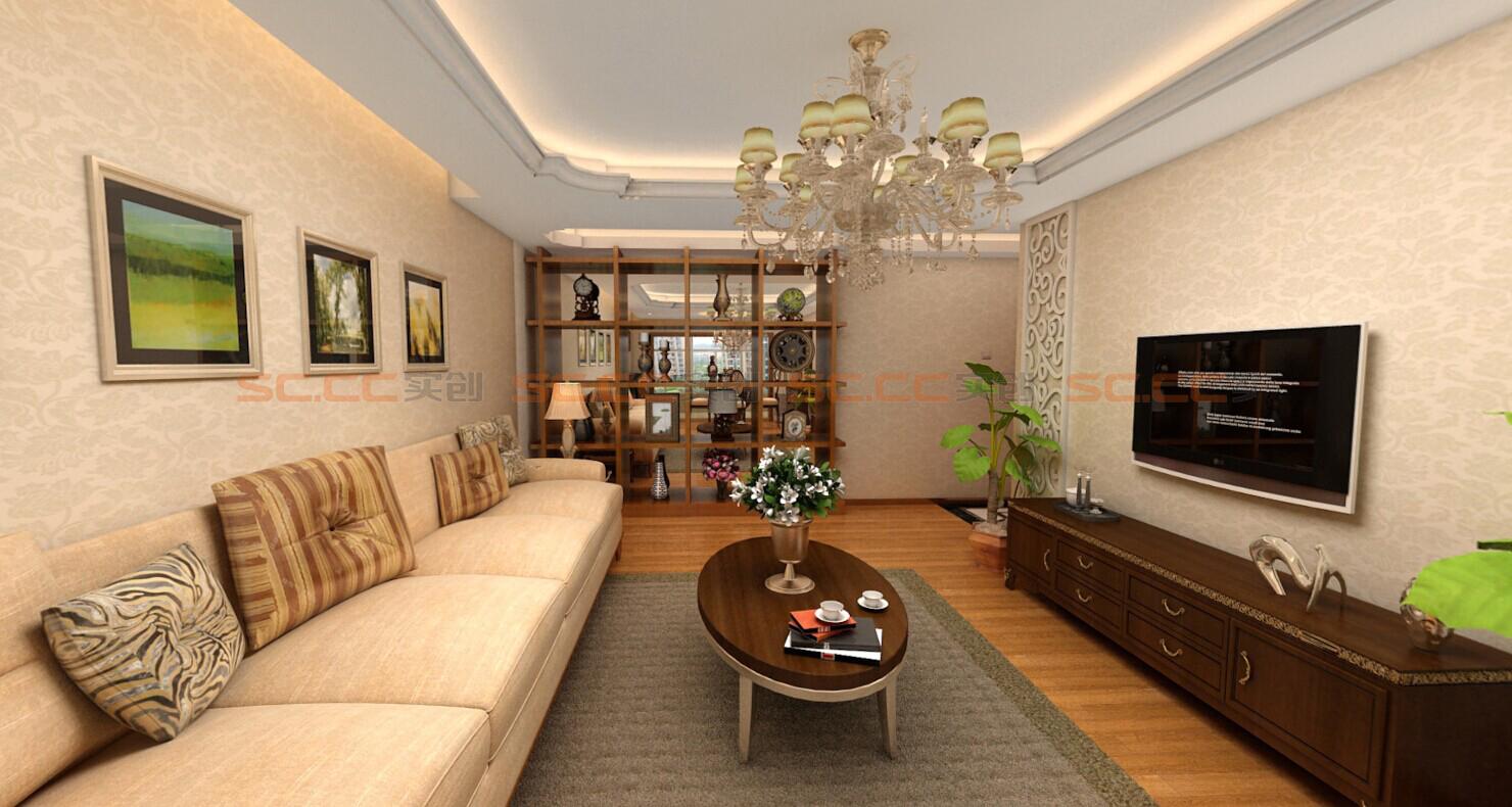 混搭 实创陈浩 客厅图片来自南京实创装饰陈浩在混搭也是一种美的分享