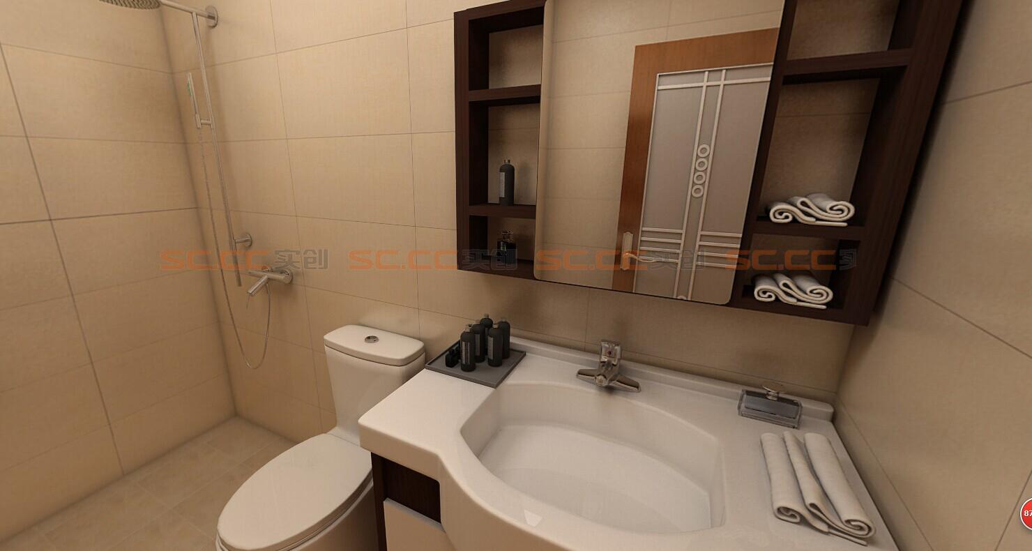 混搭 实创陈浩 卫生间图片来自南京实创装饰陈浩在混搭也是一种美的分享