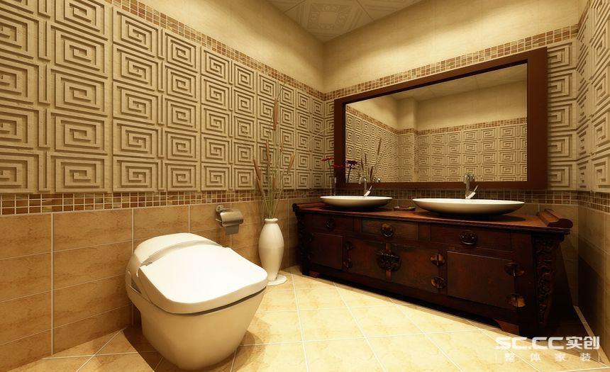 新中式 四居室 旧房改造 装修设计 装修公司 卫生间图片来自孙进进在四居室143平山水入室的新中式的分享