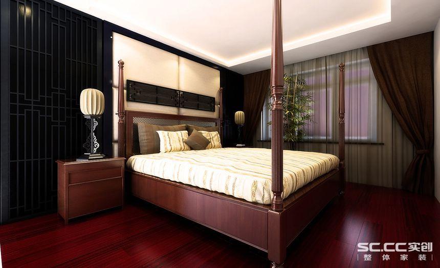 新中式 四居室 旧房改造 装修设计 装修公司 卧室图片来自孙进进在四居室143平山水入室的新中式的分享