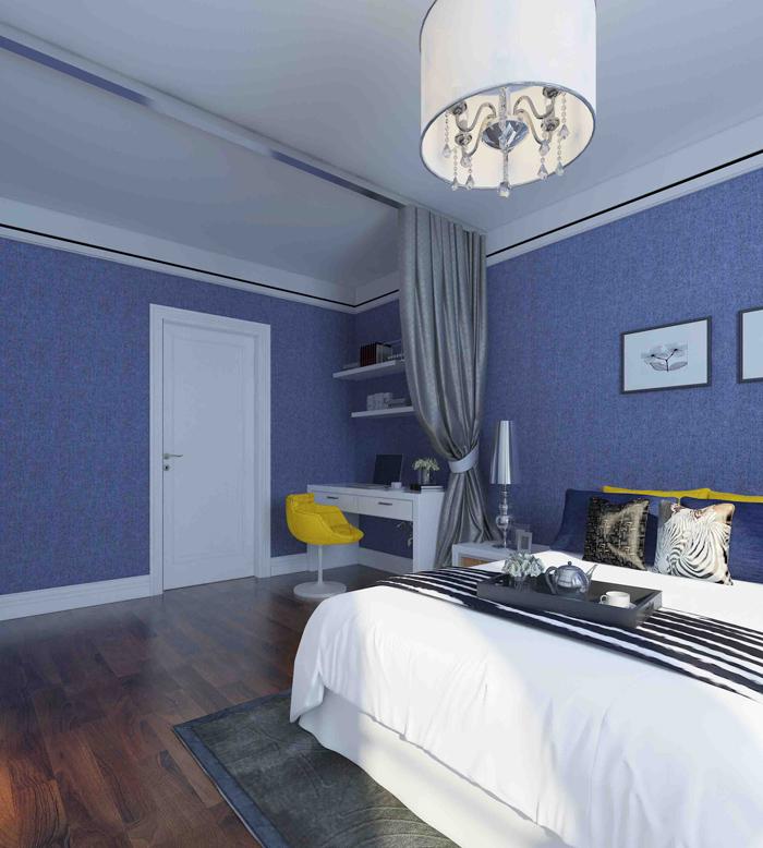 简约 三居 白领 卧室图片来自昆明易百装饰-km100zs在未名城95平米现代简约风格的分享