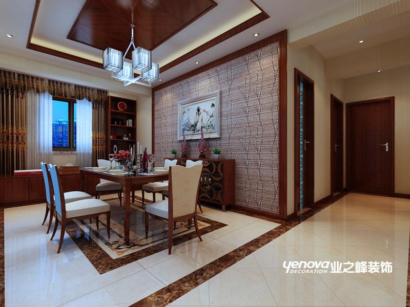 四居室 新中式 效果图 兰州业之峰 兰州装修 餐厅图片来自兰州业之峰装饰公司在银滩雅苑的分享