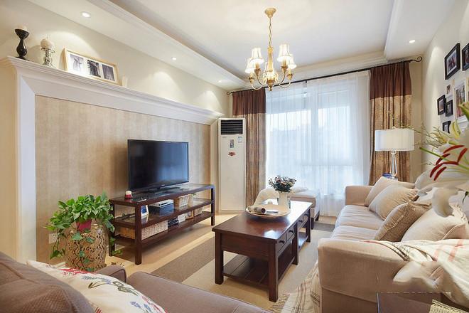 美式 实创陈浩 客厅图片来自南京实创装饰陈浩在清新美式小两居的分享