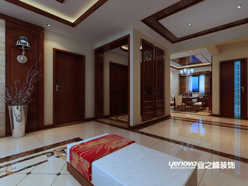 四居室 新中式 效果图 兰州业之峰 兰州装修 客厅图片来自兰州业之峰装饰公司在银滩雅苑的分享