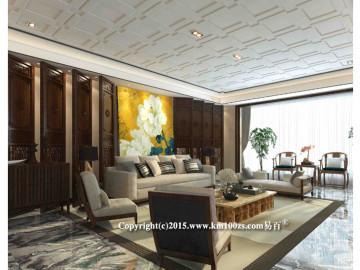 中洲阳光240平米新中式风格