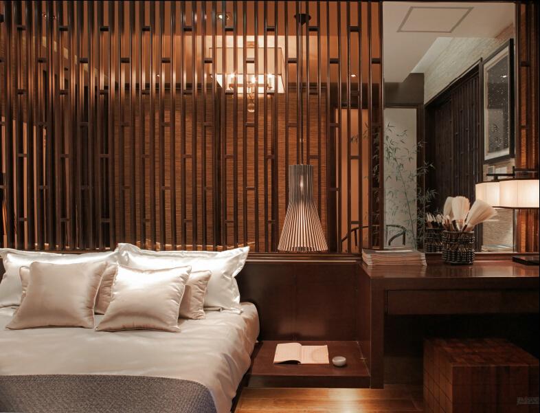 新中式 卧室图片来自紫禁尚品设计师李擎在西山艺境新中式案例的分享