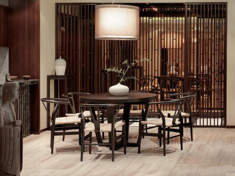 新中式 餐厅图片来自紫禁尚品设计师李擎在西山艺境新中式案例的分享